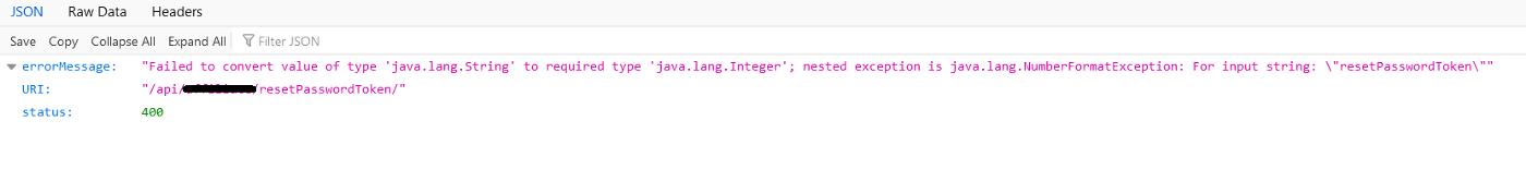 Forgot Password API Endpoint